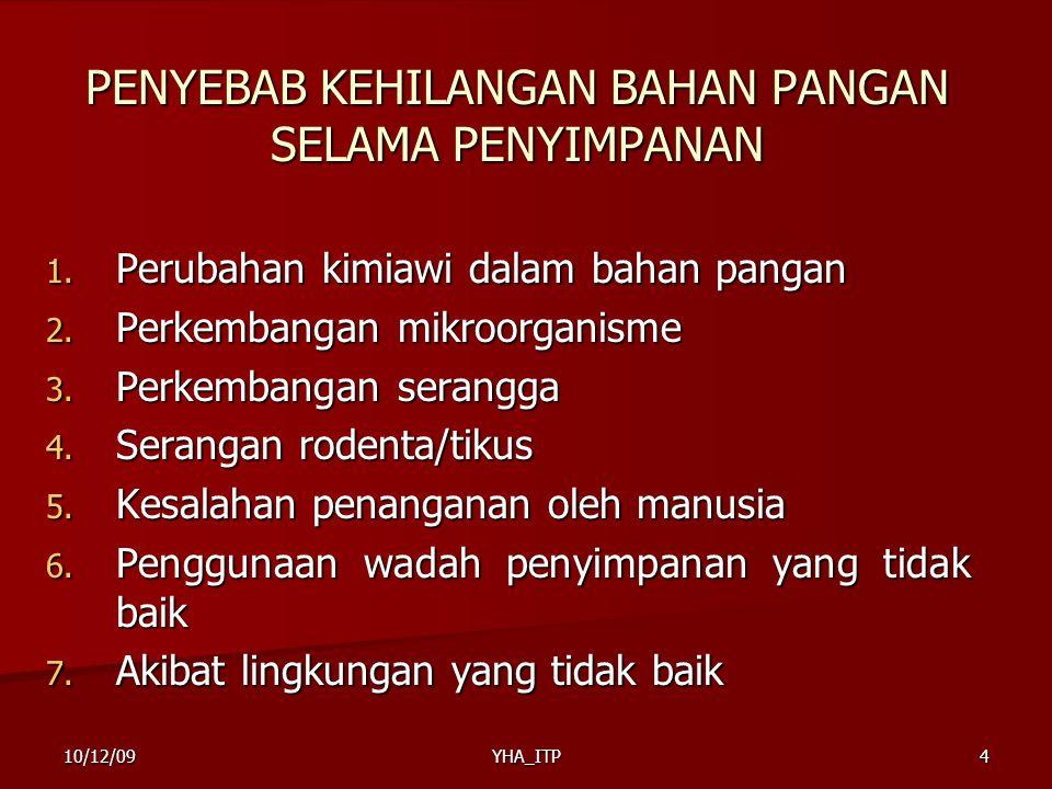 YHA_ITP5 JENIS-JENIS KEHILANGAN BAHAN PANGAN SELAMA PENYIMPANAN 1.