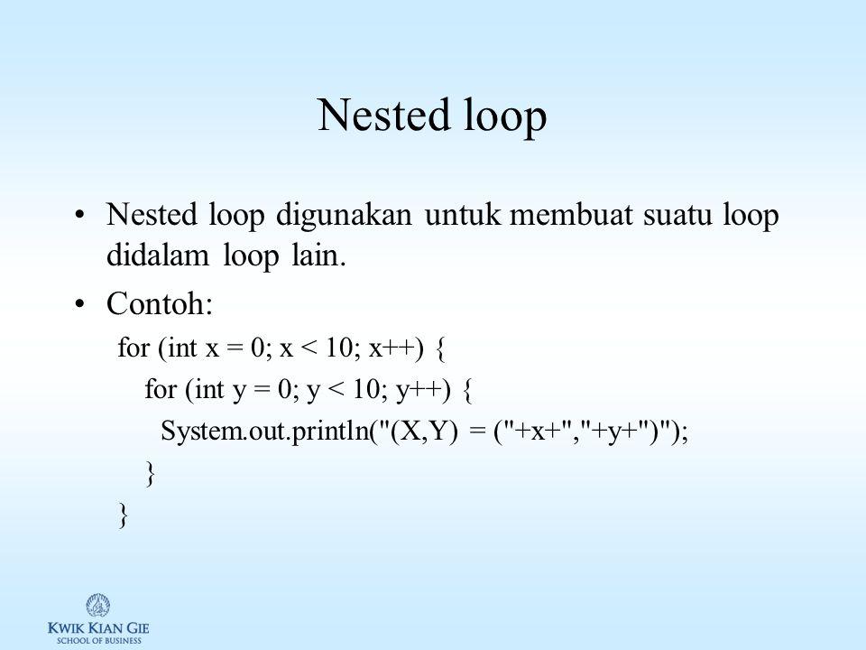 Loop while & for Konversi while ke for Konversi for ke while
