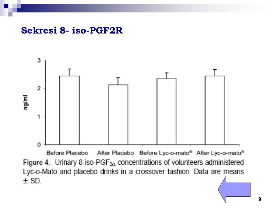 9 Sekresi 8- iso-PGF2R
