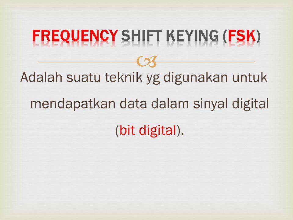  Adalah suatu teknik yg digunakan untuk mendapatkan data dalam sinyal digital (bit digital).