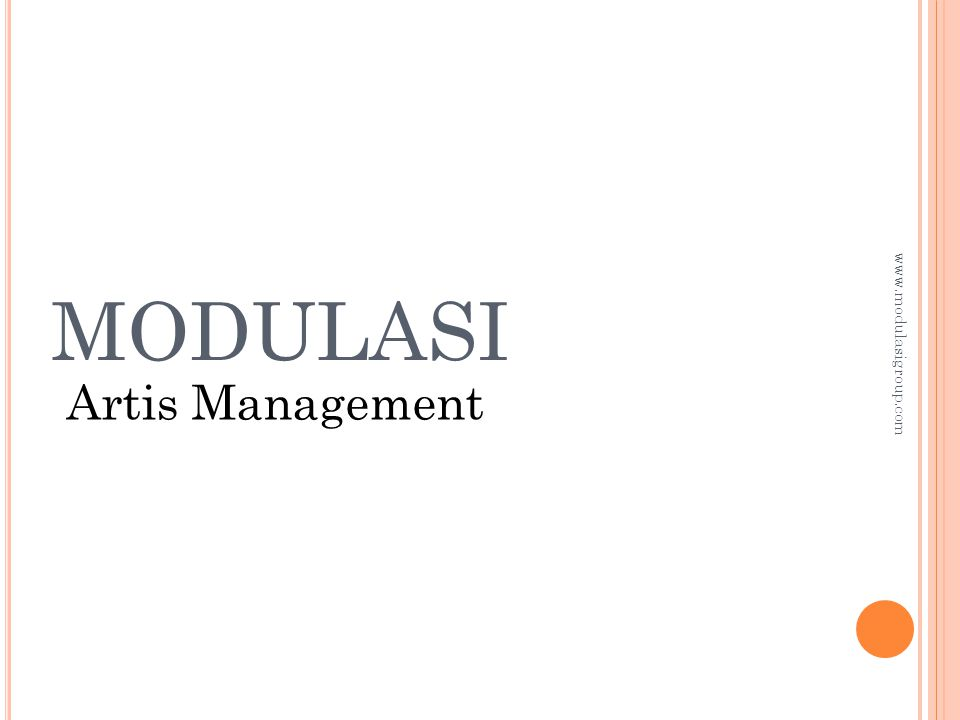 MODULASI Artis Management www.modulasigroup.com