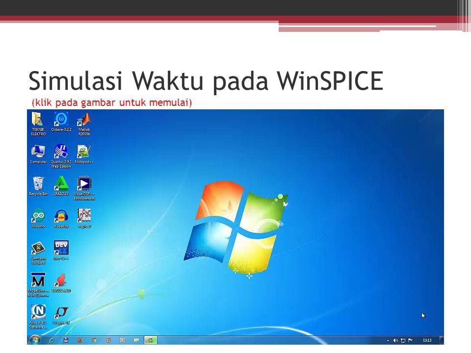 Simulasi Waktu pada WinSPICE (klik pada gambar untuk memulai)