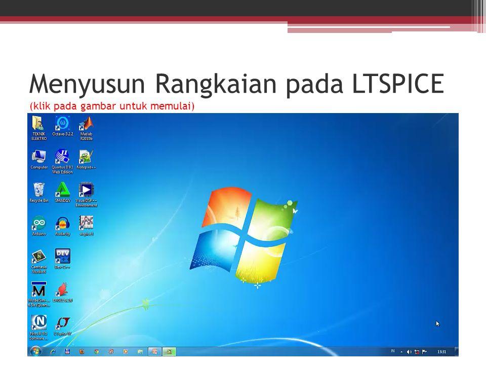 Menyusun Rangkaian pada LTSPICE (klik pada gambar untuk memulai)