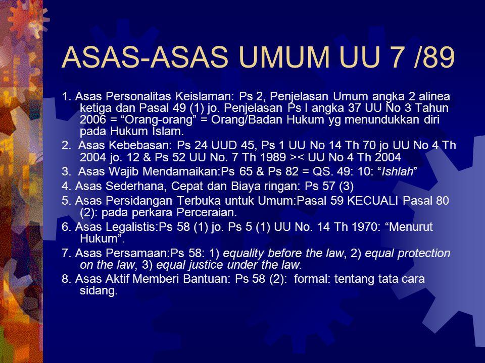 ASAS-ASAS UMUM UU 7 /89 1.