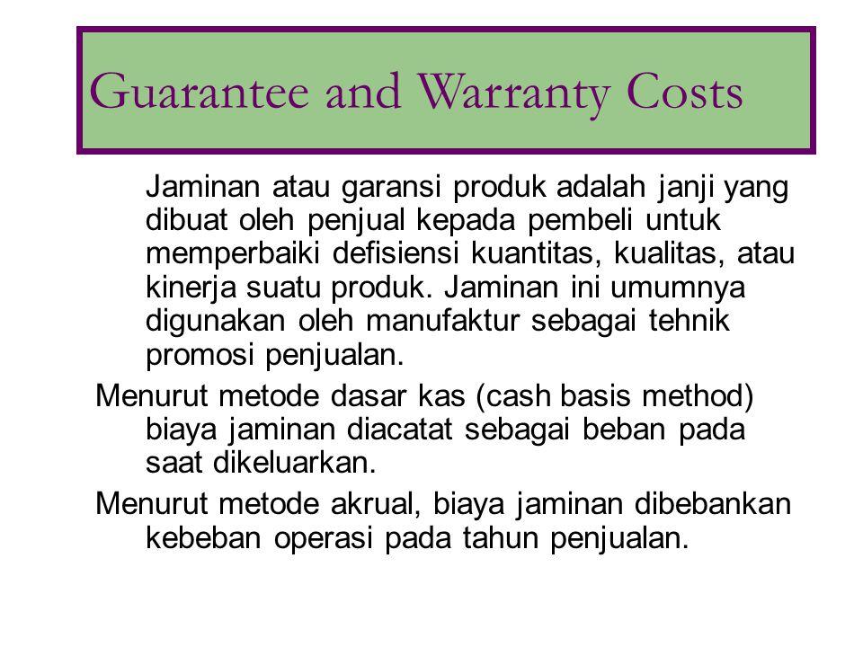Jaminan atau garansi produk adalah janji yang dibuat oleh penjual kepada pembeli untuk memperbaiki defisiensi kuantitas, kualitas, atau kinerja suatu