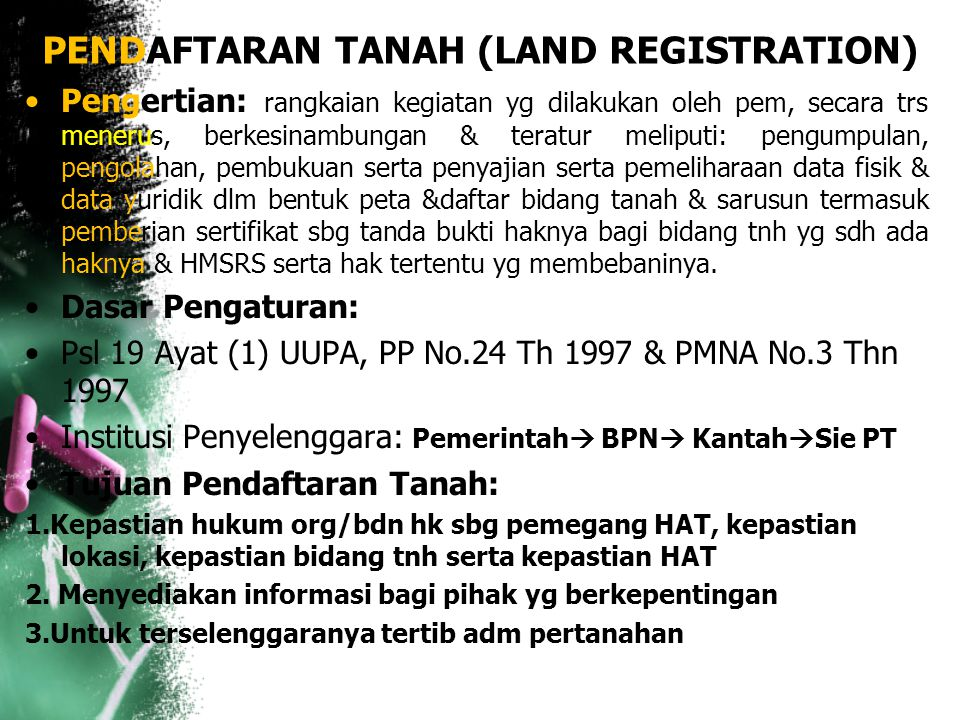 KETERKAITAN PENGATURAN AGRARIA & SDA LAINNYA People's Consultative Assembly's Decree II/1960 Guidelines on Natural resource management Basic Law on Oi