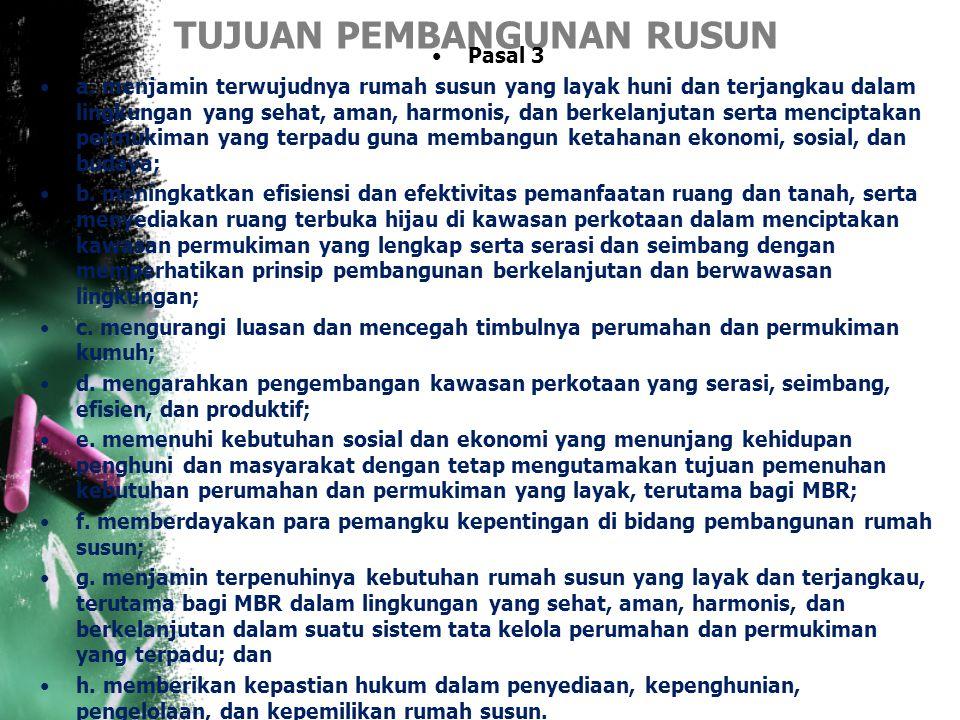 TIGA KONSEP DASAR RUSUN MENURUT UU No.20 th 2011 4.Tanah bersama adalah sebidang tanah hak atau tanah sewa untuk bangunan yang digunakan atas dasar ha