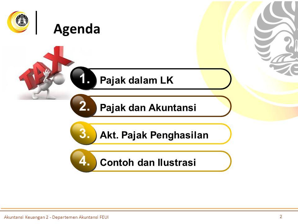 Agenda Pajak dalam LK 1. Pajak dan Akuntansi 2. Akt. Pajak Penghasilan 3. Contoh dan Ilustrasi 4. Akuntansi Keuangan 2 - Departemen Akuntansi FEUI 2