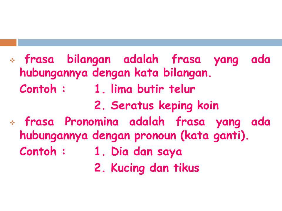 Pengertian Klausa Klausa adalah satuan gramatikal yang memiliki tataran di atas frasa dan di bawah kalimat, berupa kelompok kata yang sekurang- kurangnya terdiri atas subjek dan predikat, dan berpotensi untuk menjadi kalimat (Kiridalaksana, 1993:110).