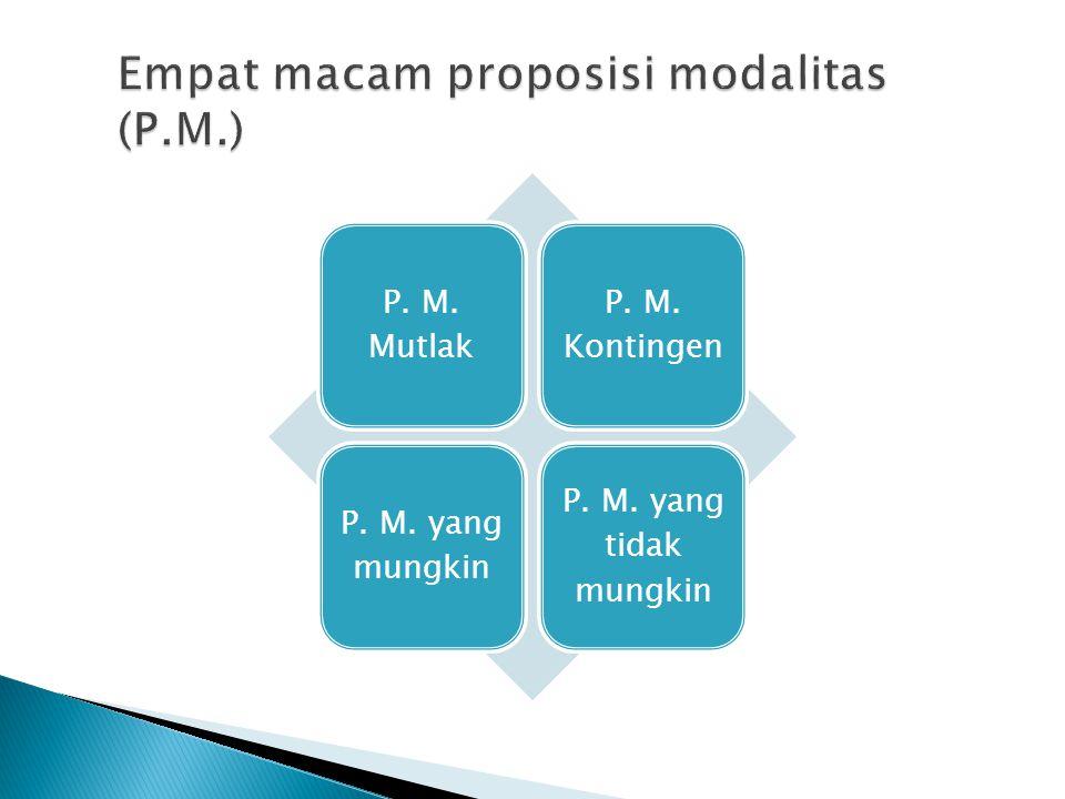 P. M. Mutlak P. M. Kontingen P. M. yang mungkin P. M. yang tidak mungkin