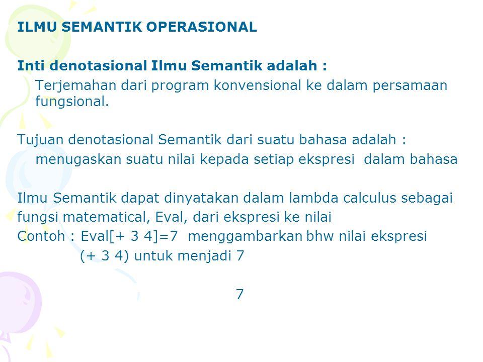 FUNGSI REKURSIF Perluasan Syntax Lambda-calculus yang mencakup ekspresi yang telah dinamai (named expressions) L ::=...  x : L  ...