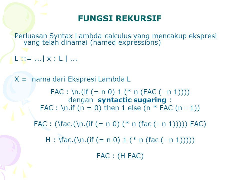 10.Ekspresi Lambda-Calculus \x.(x 3 - 27) 5 akan menghasilkan : a.68 b.78 c.88 d.98