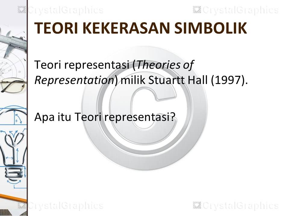 TEORI KEKERASAN SIMBOLIK Teori representasi (Theories of Representation) milik Stuartt Hall (1997). Apa itu Teori representasi?