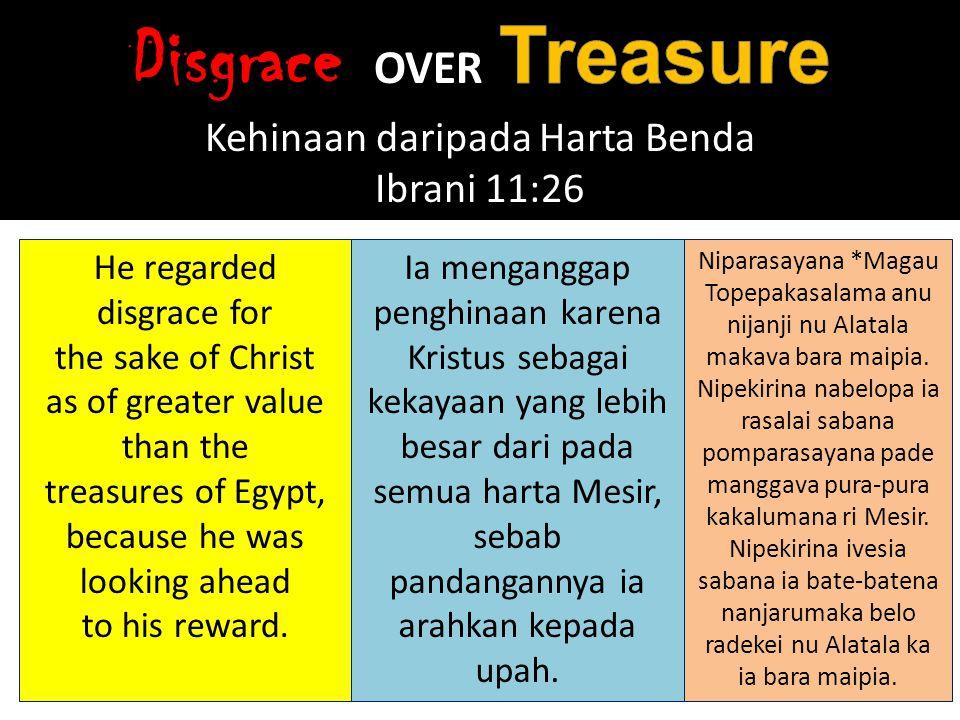 Hal Kerajaan Sorga itu seumpama harta yang terpendam di ladang, yang ditemukan orang, lalu dipendamkannya lagi.