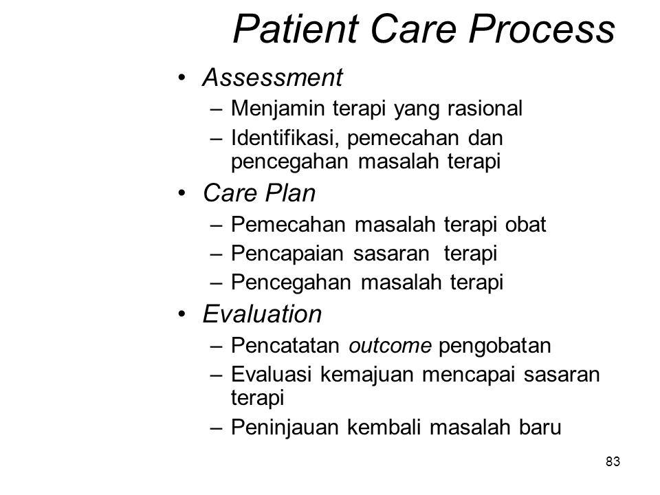 82 Pelayanan Penunjang Distribusi tepat waktu Data pasien tepat waktu dan lengkap Drug Information service (PIO) yang lengkap dan mutakhir Dokumentasi