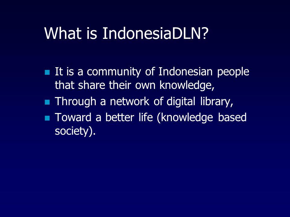 Definisi Digital Library vs Katalog Online (BERBEDA !) Digital Library = koleksi full resources (dokumen, audio, video) Katalog Online = hanya databas