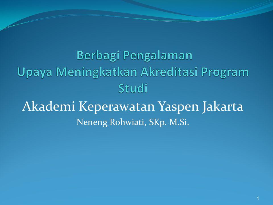 Akademi Keperawatan Yaspen Jakarta Neneng Rohwiati, SKp. M.Si. 1