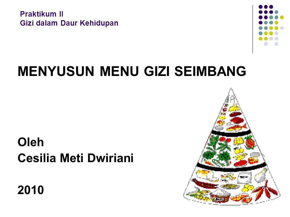 Pembagian Porsi Bahan Makanan Sehari Gol bhn mkn Sat.