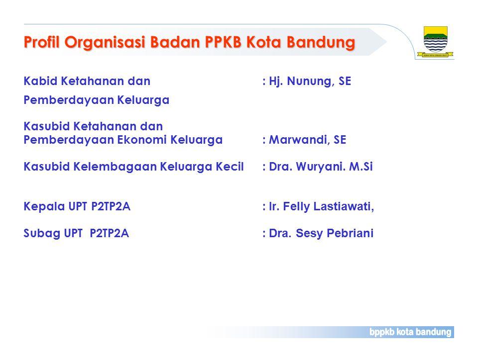 Profil Organisasi Badan PPKB Kota Bandung Kabid Ketahanan dan : Hj.