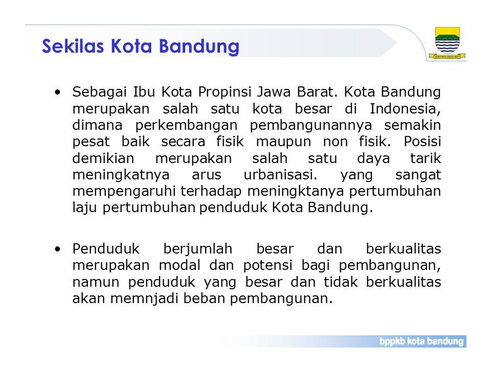 Secara geogarfis Kota Bandung terletak pada pertemuan poros jalan raya Barat dan Timur yang menghubungkan dengan Ibu Kota Negara.