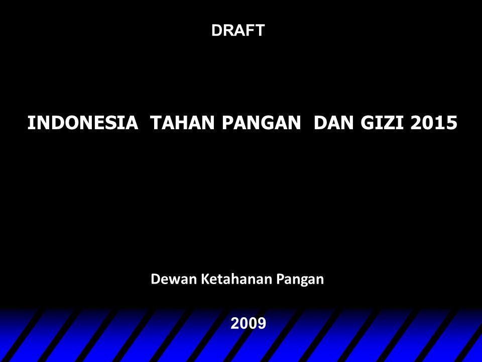 Dewan Ketahanan Pangan 2009 DRAFT INDONESIA TAHAN PANGAN DAN GIZI 2015