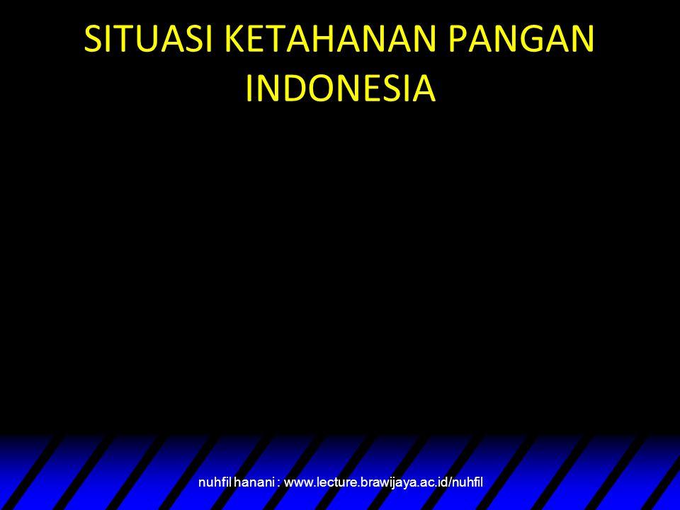 SITUASI KETAHANAN PANGAN INDONESIA nuhfil hanani : www.lecture.brawijaya.ac.id/nuhfil