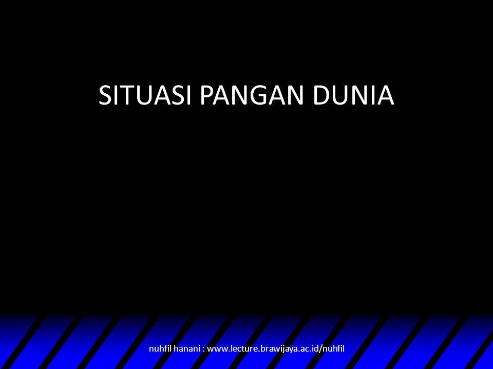 SITUASI PANGAN DUNIA nuhfil hanani : www.lecture.brawijaya.ac.id/nuhfil