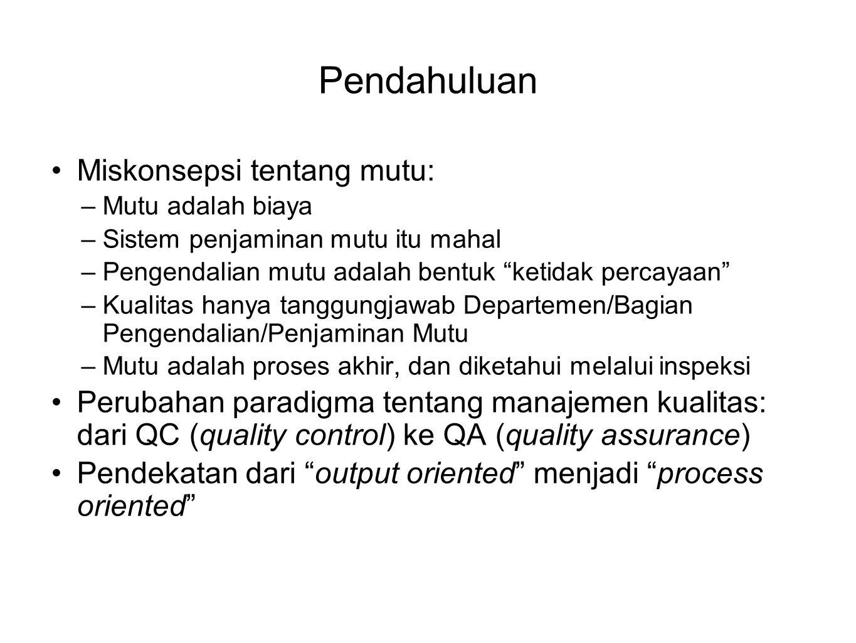 Prinsip manajemen mutu 1.Fokus pada pelanggan 2. Kepemimpinan 3.
