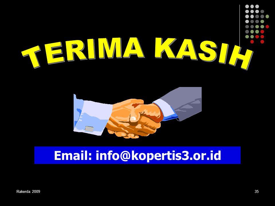 Rakerda 200935 Email: info@kopertis3.or.id