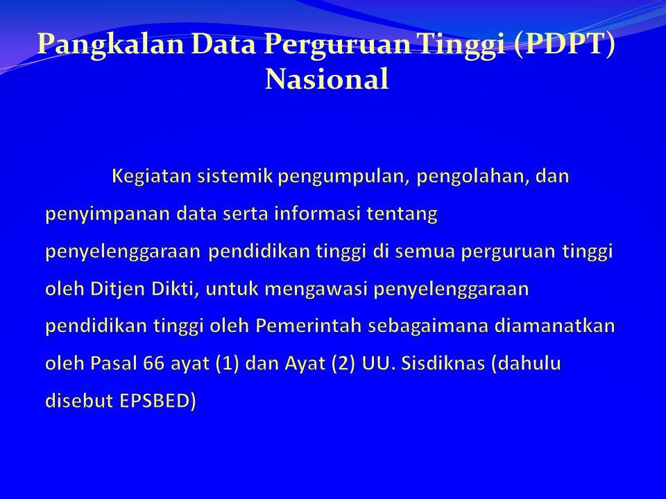 Pangkalan Data Perguruan Tinggi (PDPT) Nasional