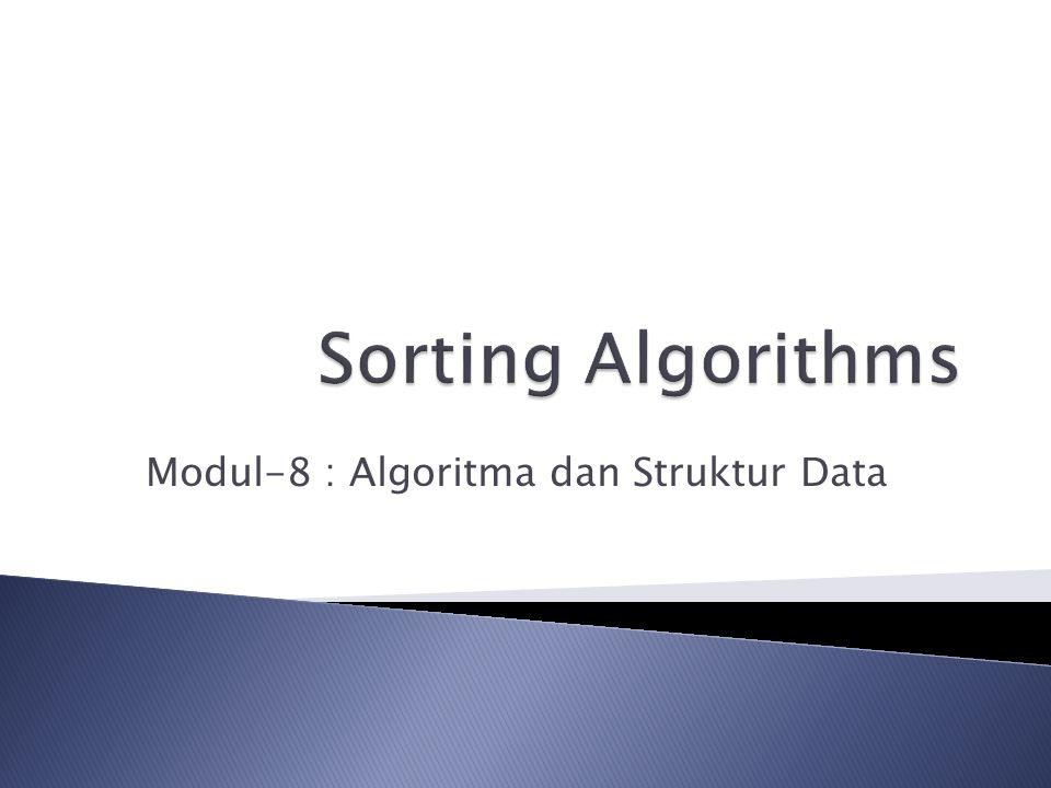 Modul-8 : Algoritma dan Struktur Data