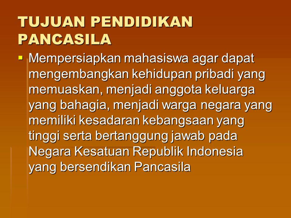 Persatuan Indonesia sebagai Falsafah Hidup, Etika Politik, Ideologi Nasional, dalam Sejarah perjuangan bangsa, dalam Praktek Kenegaraan dan sebagai Paradigma kehidupan bermasyarakat, berbangsa dan bernegara.