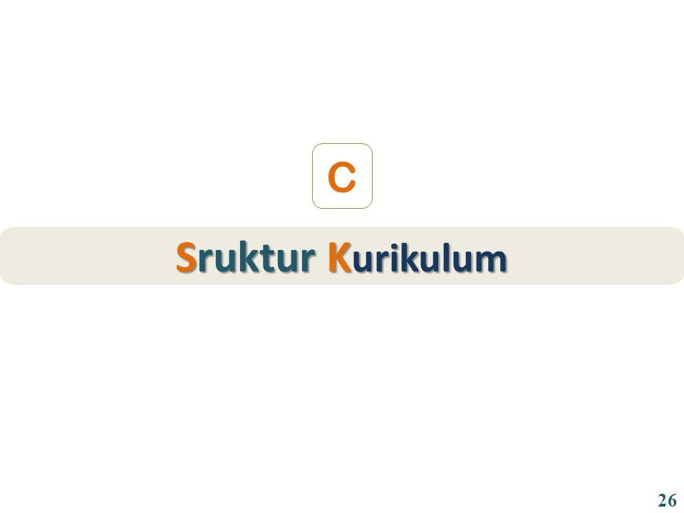 Sruktur K urikulum C 26