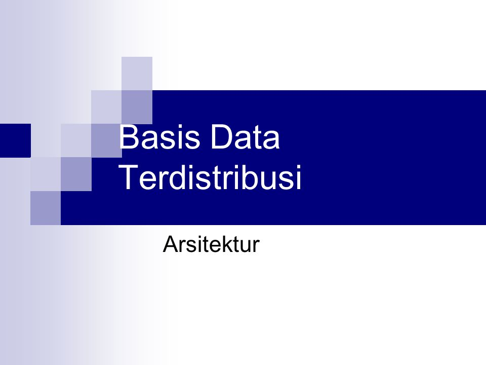 Alternatif Implementasi DBMS: