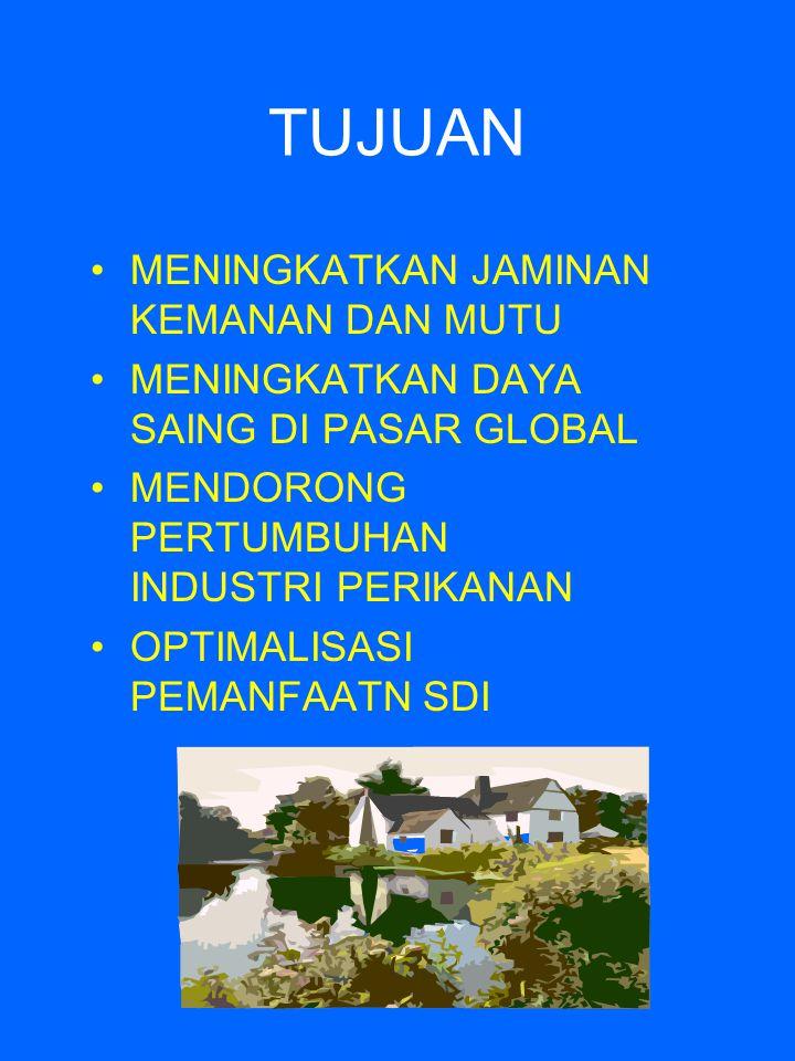 RUANG LINGKUP PRA-PANEN (Budidaya dan penangkapan) PANEN PASCA PANEN (Penanganan/pengolahan, transportasi, penyimpanan dan distribusi)