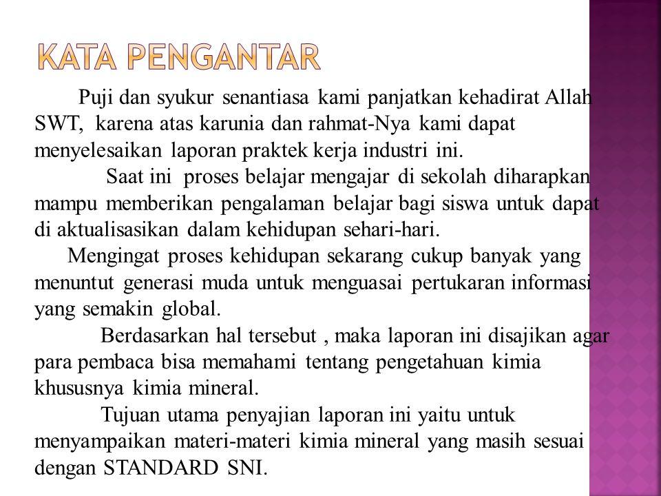 DAFTAR PUSTAKA SNI 403 Penetapan Pupuk NPK Padat RINSEMA, W.T.