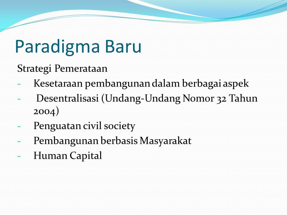 Strategi Pembangunan Strategi Pertumbuhan 1.Economic Oriented 2.