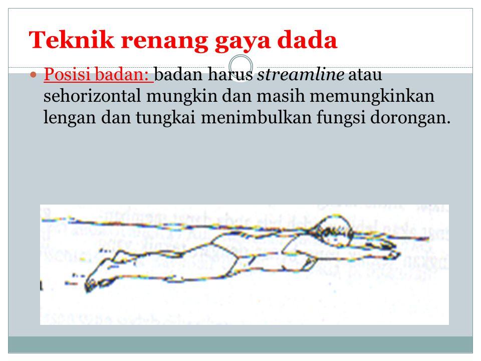 Pernafasan dan Pengangkatan Kepala pengangkatan kepala di mulai sesaat tarikan lengan selesai.
