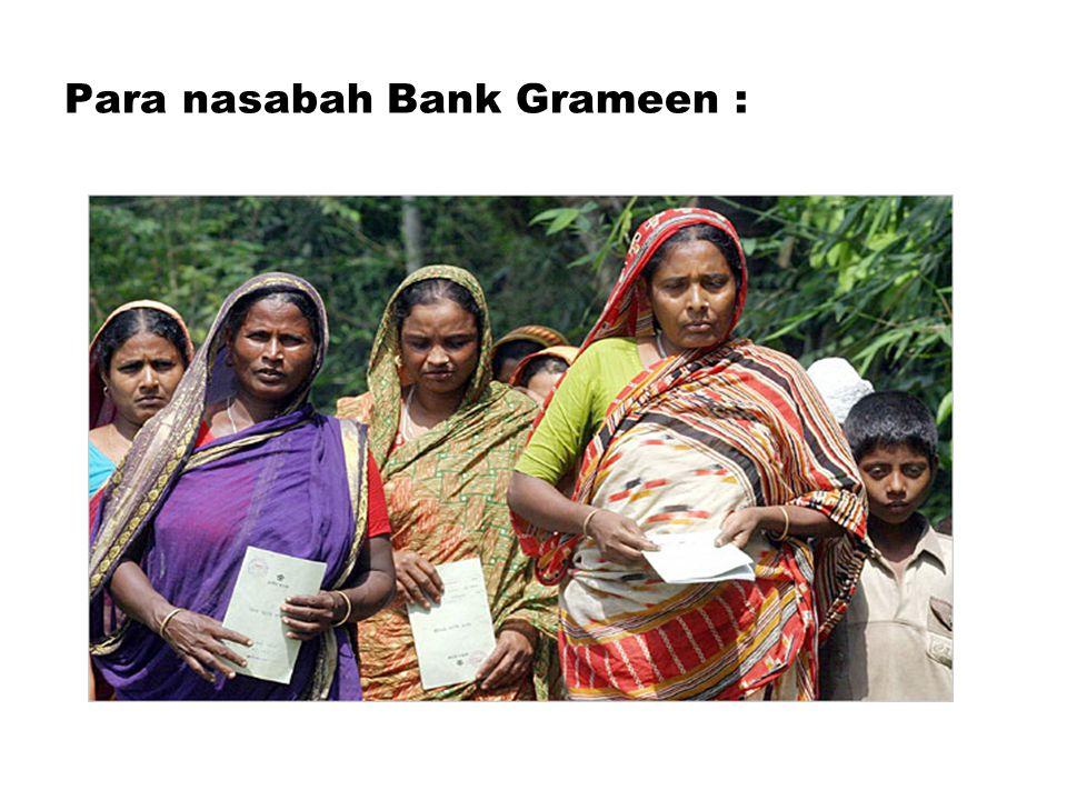 Para nasabah Bank Grameen :