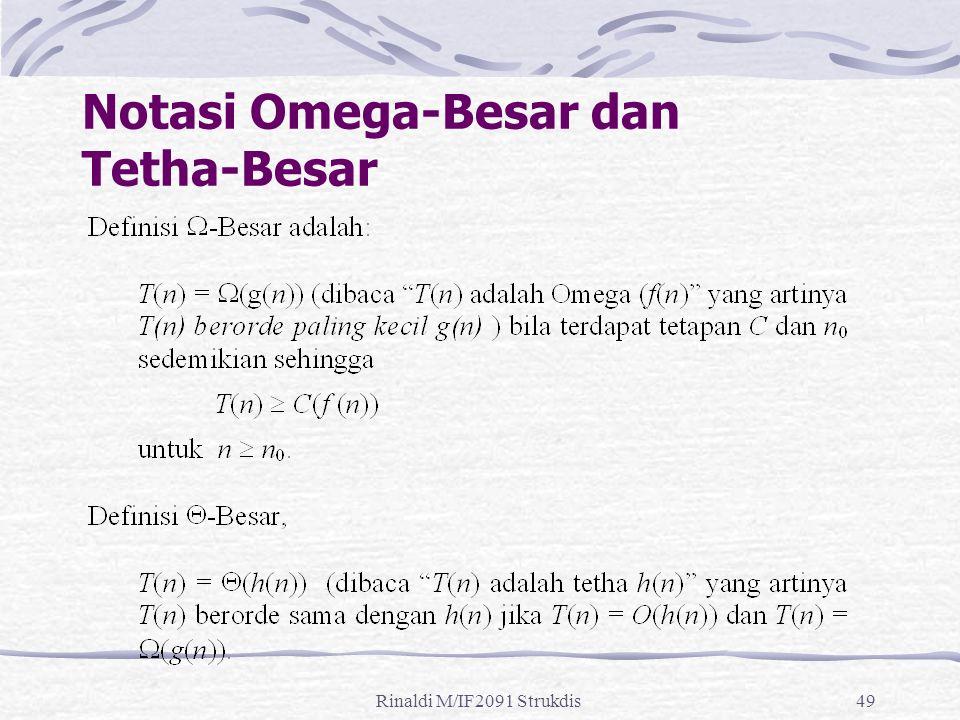 Rinaldi M/IF2091 Strukdis49 Notasi Omega-Besar dan Tetha-Besar