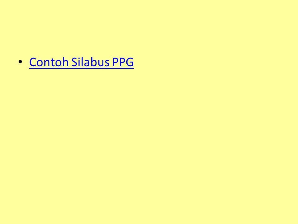 Contoh Silabus PPG