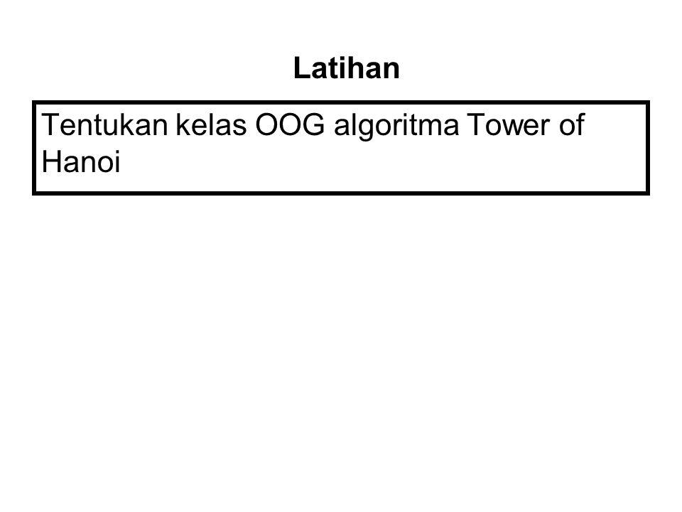 Untuk membuktikan apakah t(n) Є O(f(n)) OoG t(n) ≤ OoG f(n)  Limit  Jika ada konstanta c dan integer positif n o sedemikian hingga t(n) ≤ cf(n) untuk semua n ≥ n o Big Oh
