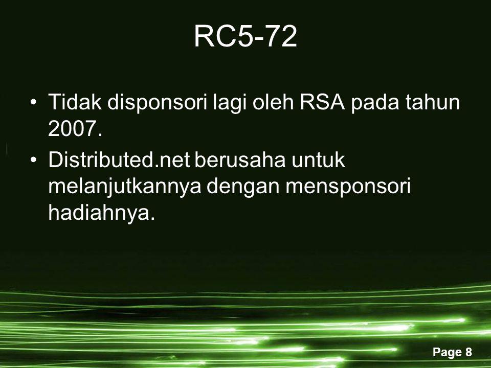 Page 8 RC5-72 Tidak disponsori lagi oleh RSA pada tahun 2007.
