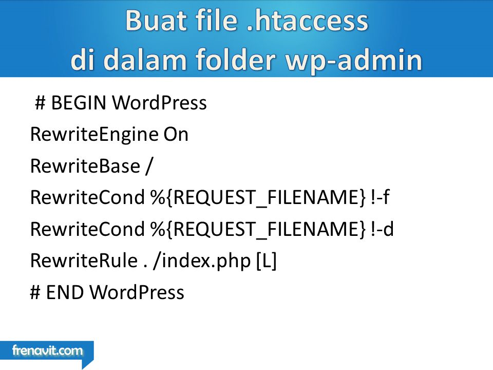 # BEGIN WordPress RewriteEngine On RewriteBase / RewriteCond %{REQUEST_FILENAME} !-f RewriteCond %{REQUEST_FILENAME} !-d RewriteRule.