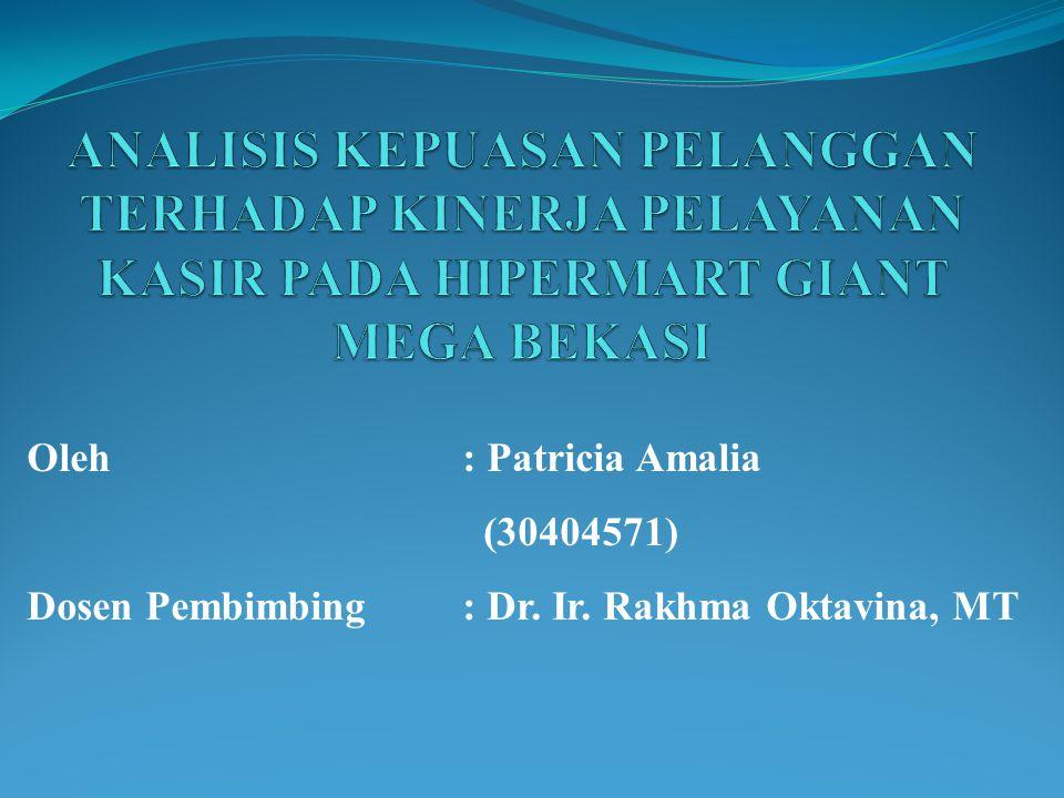 Oleh : Patricia Amalia (30404571) Dosen Pembimbing : Dr. Ir. Rakhma Oktavina, MT