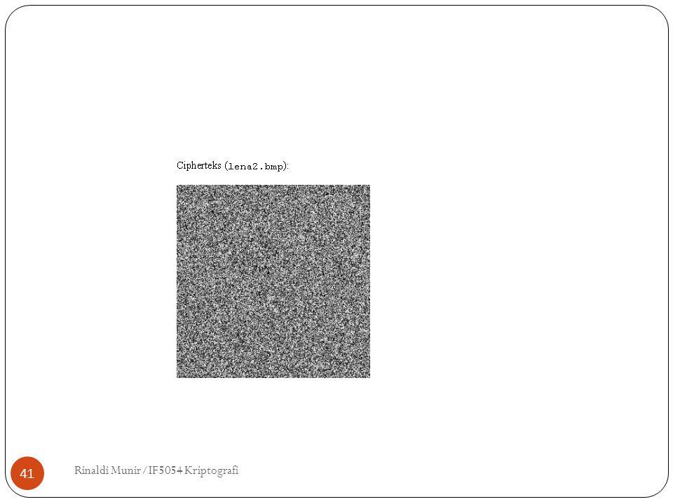 Rinaldi Munir/IF5054 Kriptografi 41