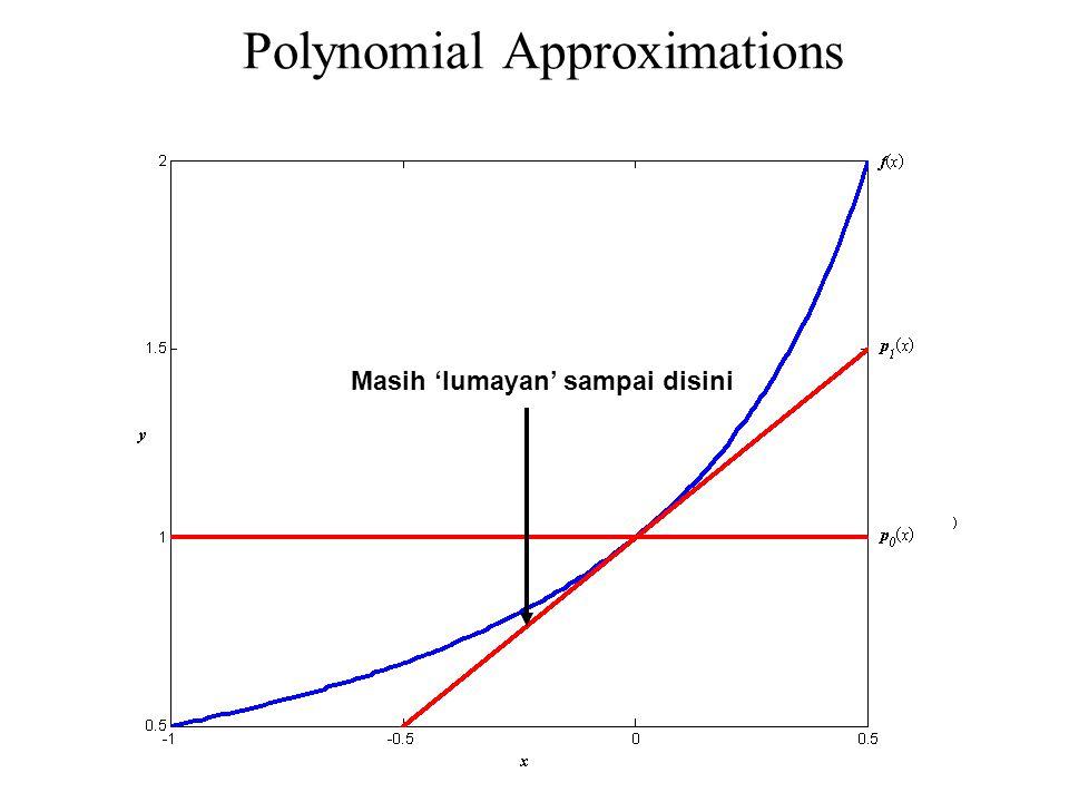 Polynomial Approximations Masih 'lumayan' sampai disini