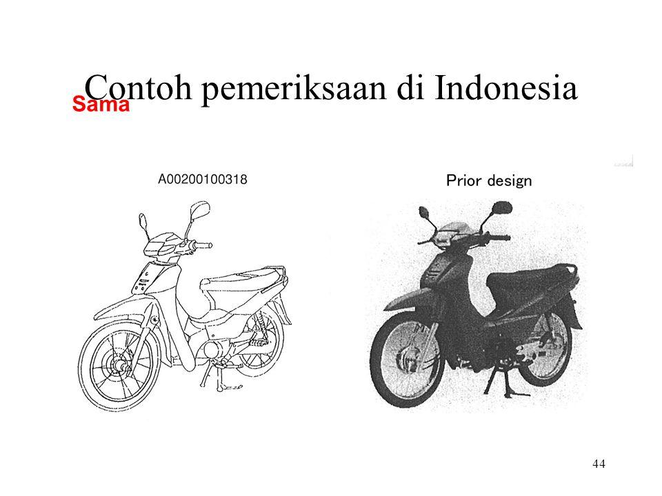 44 Contoh pemeriksaan di Indonesia Sama