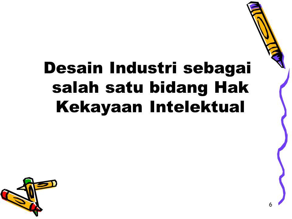 6 Desain Industri sebagai salah satu bidang Hak Kekayaan Intelektual