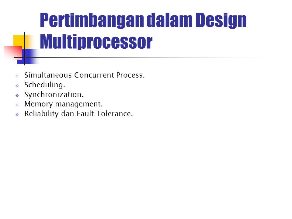 Pertimbangan dalam Design Multiprocessor  Simultaneous Concurrent Process.